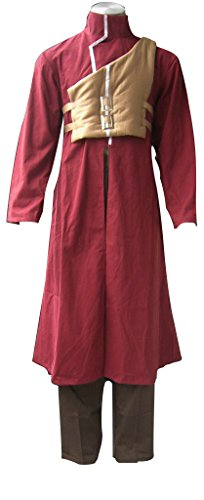 Mtxc Men's Naruto Cosplay Costume Sabaku no Gaara 4st Size X-Small Red
