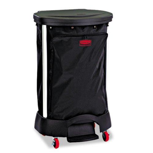 Rubbermaid 6350BLA Premium Step-On Linen Hamper Bag, 13 3/8w x 19 7/8d x 29 1/4h, Nylon, Black