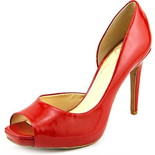 Orsay Damen Peep Red Simpson Pumps Lipstick JASELLE Jessica Toe D wUqYZRxR
