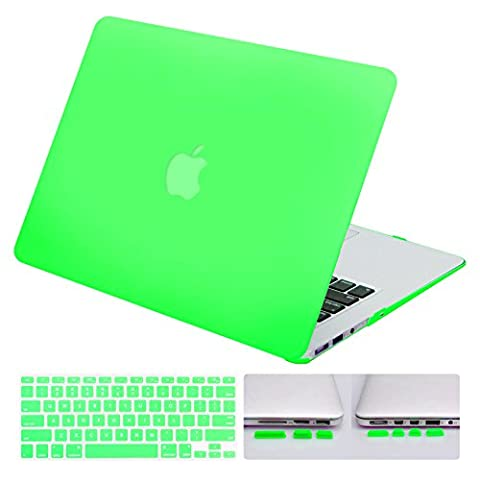 DWON MacBook Air 13 Inch Case with Keyboard Cover and Dust Plug for Apple Macbook Air 13 Inch Sleeve Model A1369 and A1466 - Mint - Port Air