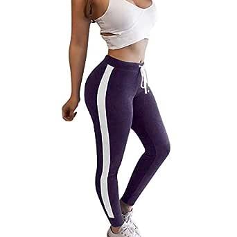 Oliviavan Pantalones de Yoga,Moda Casual Mujer Yoga Deportivas ...