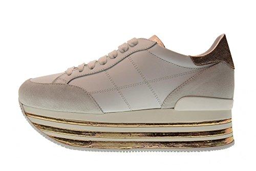 avec Bianco HXW3490J061I7X0989 Plate pour H349 Baskets Hogan Salmone Forme Chaussures Bas Femmes des zPwx4Iq0