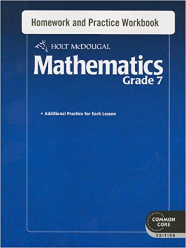 Worksheets Holt Mcdougal Mathematics Worksheets holt mcdougal mathematics homework and practice workbook grade 7 1st edition