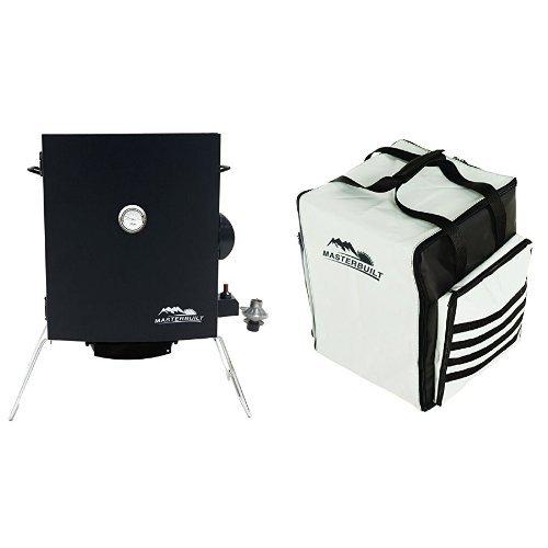 Masterbuilt 20050116 Portable Gas Smoker + Carrying (Portable Propane Smoker)