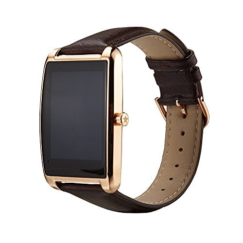 Smart Watch Camera Bluetooth Speaker Heart Rate Monitor MTK6580 Big Touchscreen GPS Pedometer Customized Activity Tracker Water Resistant Metal Dial Smart Wristband For Android IOS Smartphones Gold