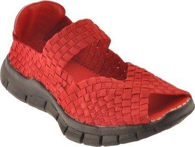 Bernie Mev Womens Comfi Flats Shoes,Red,38