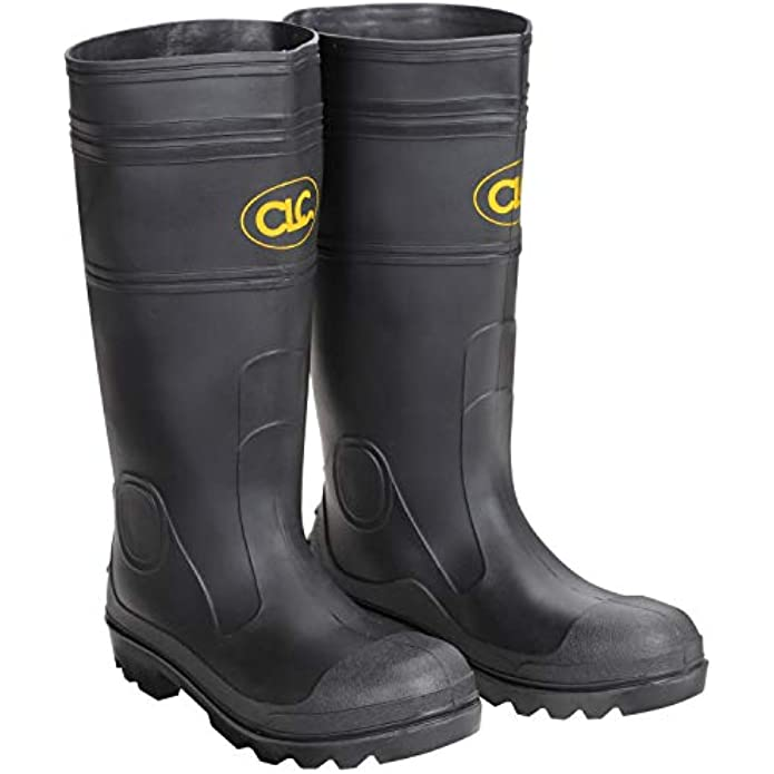 CLC Custom Leathercraft R230 Over The Sock Black PVC Men's Rain Boot, Size 10