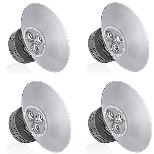 LED High Bay Light 150W 6000K-6500K 13500lm High Bay Lighting IP65 Waterproof Warehouse LED Lights Workshop Gymnasium Commercial Shopping Mall High Bay Lights(4Pcs) from UNHO