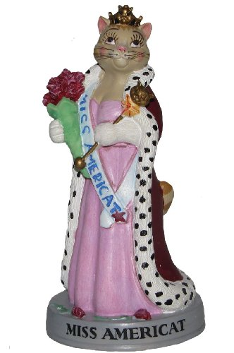 "Ertl Collectibles Cat Hall of Fame Miss Americat Figurine - 4"" Tall"