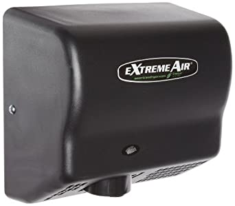 American Dryer ExtremeAir GXT9-BG Steel Cover High-Speed Automatic Hand Dryer, 10-12 Second Dries, 100-240V, 1,500W Maximum Power, 50/60Hz, Black Graphite Finish