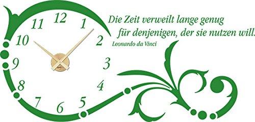 GRAZDesign Wanduhr groß Aufkleber Ornament mit mit mit Spruch - Wandtattoo Uhr mit Uhrwerk Die Zeit verweilt Lange genug - Uhren Wand Tattoo mit großen Zahlen   119x57cm   800331_GD_080 B00GTU9JFW Wandtattoos & Wandbilder be6d49