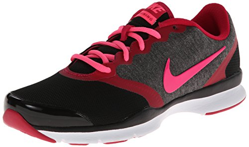 Nike In-Season TR 4 Women's Cross Training Shoes (6 B(M) US, Black/Fuchsia Force/Cool Grey/Hyper Pink) by NIKE