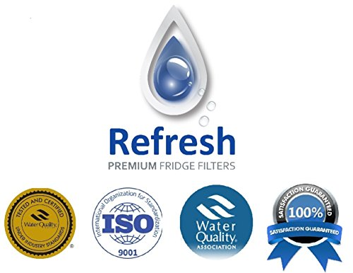 3x Kenmore 46-9690 / LG LT700P, ADQ36006101 Compatible Refrigerator Water Filter - fits for Kenmore 9690, ADQ36006102 & LG Refrigerator Water Filters by Refresh 3 Pack
