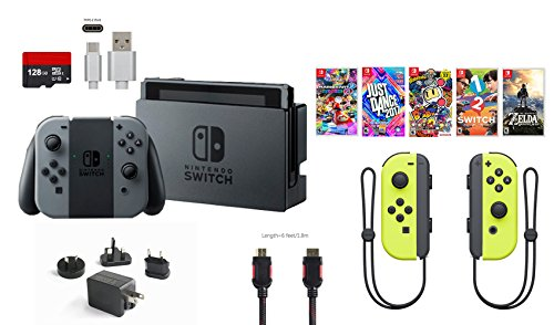 Rent To Own Nintendo Switch Bundle 11 Items 32gb Console Gray Joy