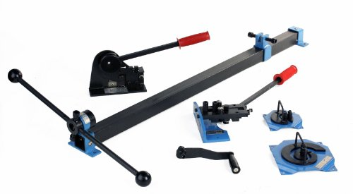 Erie Tools Steel Metal Fabrication 4 Piece Kit, Shear & Punch, Screwing & Spiral, Riveting, Bending, & Rolling, and Curve Bending