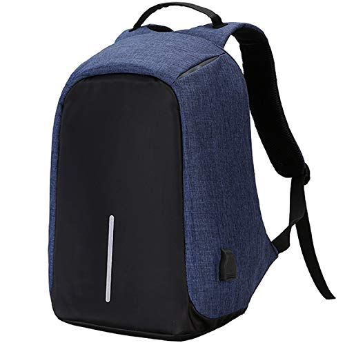 YOUPECK Anti-Theft Laptop Backpack Bags with USB Charging Port for Business Office Men Women Students Computer Bag Travel Pack Fits Under 15.6 Inch Laptop - Blue