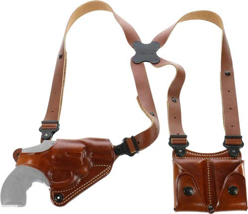 Galco Miami Classic Shoulder System - Galco Miami Classic Shoulder System for S&W J Frame 640 Cent 2 1/8-Inch .357 (Tan, Right-Hand)
