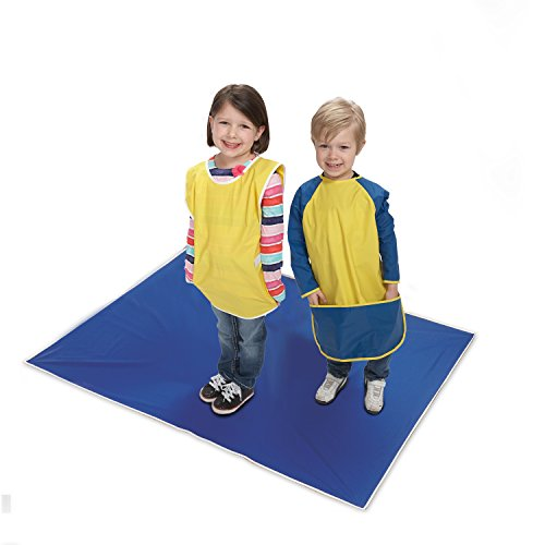 KinderMat, Blue Mess Mat, 42 x 54 Inches, Protect the Floor and Table Tops from Food or Art Supply, ()