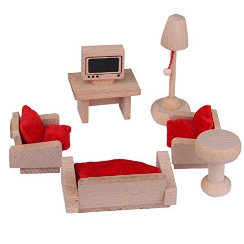 PIXNOR Puppenhaus Miniatur-Möbel-Set Möbel Wohnzimmer Set für Kinder