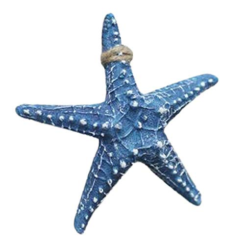 (ColorJoy Starfish Pendant Mediterranean Style Resin Five-Finger Small Starfish Pendant)