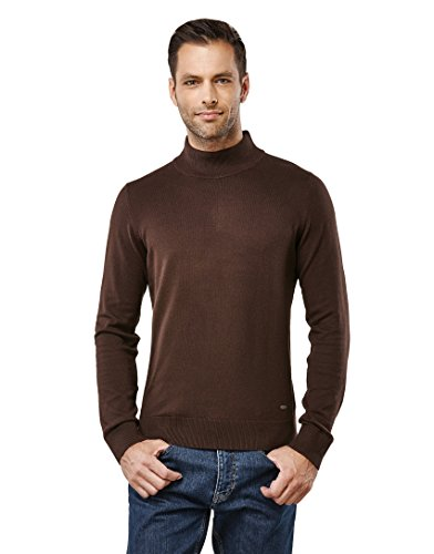 Vincenzo Boretti Men's Sweater with ribbed turtle-neck, slim-fit,brown,Large by Vincenzo Boretti (Image #1)