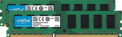 Crucial 8GB UDIMM Kit (2x4GB) DDR3L-1600 CL=11 1.35V