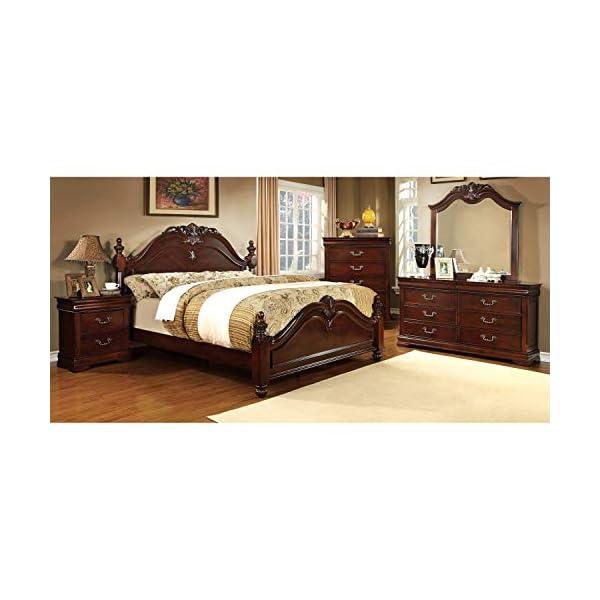 247SHOPATHOME Bedroom-Furniture-Sets, California King, Cherry,
