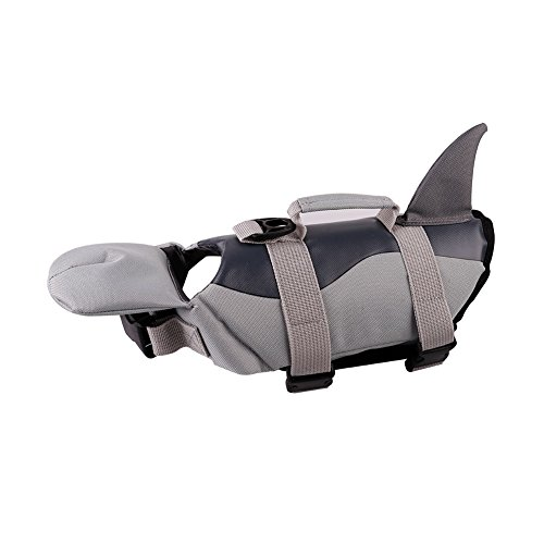 PETCEE Dog Life Jacket Quick Release Easy-Fit Adjustable Life Jackets for Small Dogs (Black, XS) by PETCEE