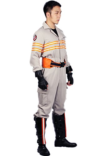 Xcoser Ghost Costume Deluxe Busters Jumpsuit Embroidery Cotton