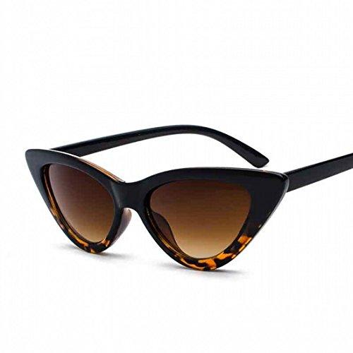 Clout Goggles Cat Eye Sunglasses Vintage Mod Style Retro Kurt Cobain Sunglasses (Leopard gradient/smoke, 51) (Retro Leopard)