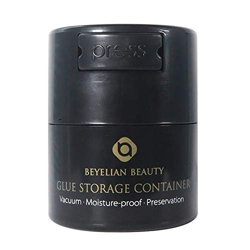 BEYELIAN Glue Storage Container Eyelash Extensions Adhesive Jar Complete Black No Direct Light for 5ml 10ml Round Type - Jar Glue