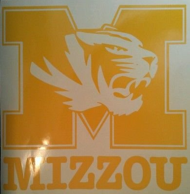 Mizzou Tigers Yellow/gold Cornhole Decals - 2 Cornhole Decals by The Cornhole King