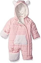 Jessica Simpson Baby Girls\' Bubble Asymmetrical Pram with Hood, Pink, 24 Months