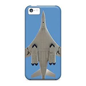 Rugged Skin Cases Covers For Iphone 5c- Eco-friendly Packaging(high-altitude Aircraft)