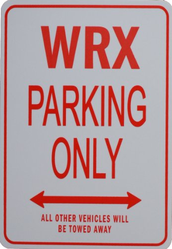 WRX PARKING SIGN - Miniature Fun Parking Sign