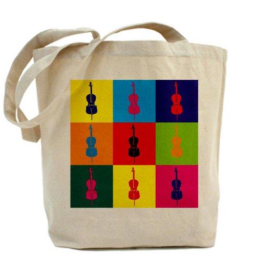 CafePress-Borsa Tote-Borsa da spesa, motivo: Pop Art, per violoncello