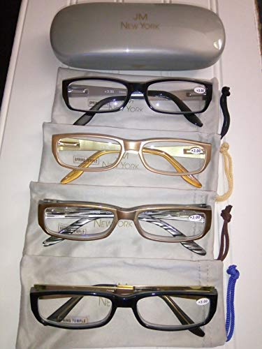 Joy Mangano READERS/GLASSES in 3.0 POWER ~ SET OF 4 with FREE CASE and ()