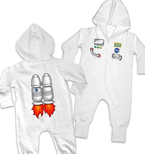 [Astronaut Costume Baby Onesie - Vanilla 12-18 Months] (Spaceman Suit Costume)