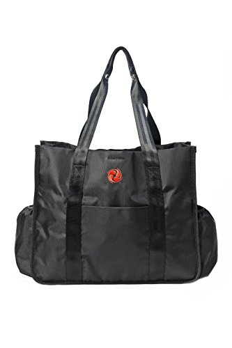 Best Premium Gym Tote Bag by Live Well 360 – Made from Ballistic Nylon – Multiple Compartments – High Quality and Durable Material for Perfect Fitness and Athletic Tote Bag, Diaper Bag, & Work Bag