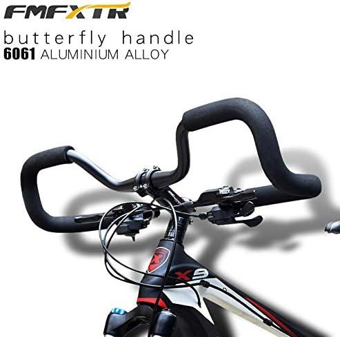 Naliovker Manubrio da Bicicletta Mountain Road Bike Manubrio Butterfly Bike Fixed Gear Ricostruzione nel Alluminio 31.8X580Mm con Coperchio