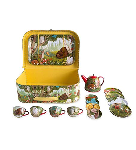 HearthSong® Woodland Tin Tea Set