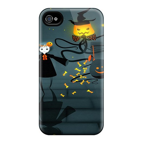 New Tpu Hard Case Premium Iphone 4/4s Skin Case Cover(funny In Halloween)]()