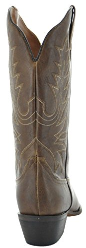Boots W1001 Brown 1002 Women's Cowboy Round Country Love Toe 7qU551