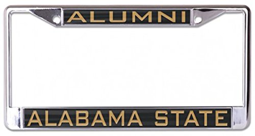 Wincraft Alabama State Alumni License Plate Frame, Metal with Inlaid Acrylic, 2 Mount Holes