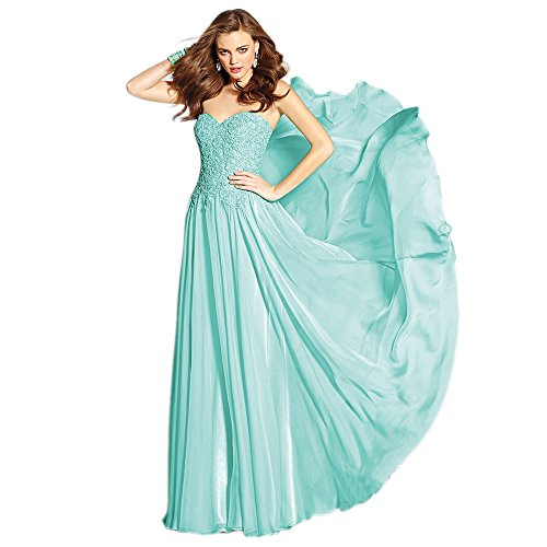 Alyce Paris Strapless Lace & Chiffon Gown Water – 0