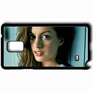taoyix diy Personalized Samsung Note 4 Cell phone Case/Cover Skin Anne Hathaway Black