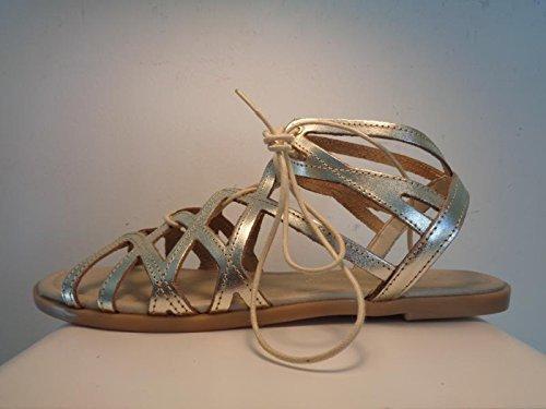 Marco Tozzi Premio 28146 - Sandalias de Gladiador Mujer Platino