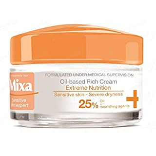Mixa Extreme Nutrition, cream enriched with 25% evening primrose oil and nourishing agents - for dry/sensitive skin 50ml