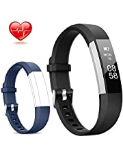 Lintelek Fitness Tracker, Slim Activity Tracker with Heart Rate Monitor, IP67 Waterproof Step Counter, Calorie Counter, Pedometer for Kids Women and Men