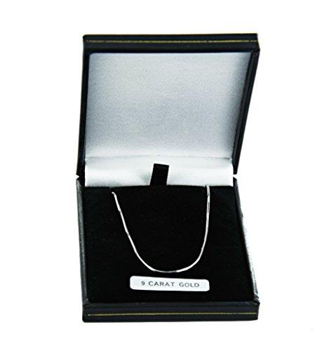 Or blanc 9Ct Coupe Diamant-Collier Femme-Chaîne Serpent 1mm d'épaisseur-Différentes longueurs-16et 45,7cm Long